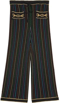 Gucci Glitter Lame Striped Culottes