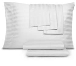Aq Textiles Closeout! 800 Thread Cotton Blend Cool Comfort Stripe Queen 6-Pc. Sheet Set Bedding