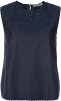 Rag & Bone Jean - Sahara denim tank top - women - Silk/Cotton - XS