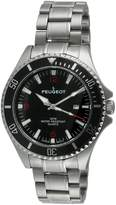 Peugeot Men's 1031BK Dial Sport Bezel Watch