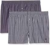 S'Oliver Men's Boxer shorts Pack of 2, Black and Stripes 11B8, 7