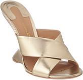 Salvatore Ferragamo F Leather Wedge Sandal