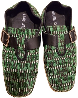 Opening Ceremony Green Cloth Espadrilles