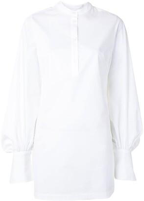 Palmer Harding Kapori long-line puff sleeve shirt