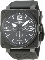Bell & Ross Men's BR-01-94-CARBON Aviation Chronograph Dial Watch Watch