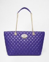 Love Moschino Quilted Shopper Tote Bag
