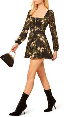 Reformation Wilder Floral Long Sleeve Minidress