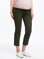 Old Navy Maternity Mid-Rise Full-Panel Utility Pixie Pants