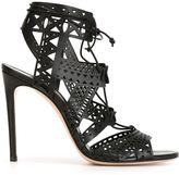 Casadei laser cut stiletto sandals