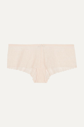Eres Eclectic Stretch-lace Briefs - Pastel pink