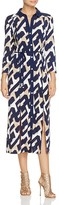 Laundry by Shelli Segal Graphic Print Midi Shirt Dress