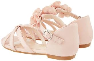 Monsoon Girls Ariah Pink Corsage Sandal - Pale Pink