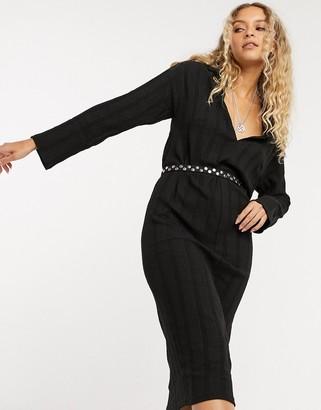 Free People Aster midi tee dress in black