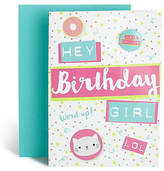 Marks and Spencer Birthday Girl Text Badge Card