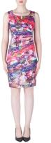 Joseph Ribkoff Printed Ruched Dress