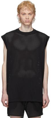 Rick Owens Black Champion Edition Mesh Sleeveless T-Shirt