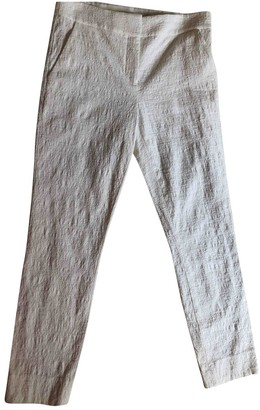 Diane von Furstenberg White Cotton Trousers
