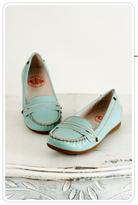 Krakow Pale Blue Patent Loafer
