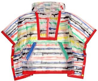Stella McCartney Kids Painted Stripes rain cape