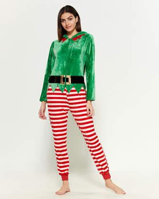 Poof Apparel Hooded Elf Jumpsuit