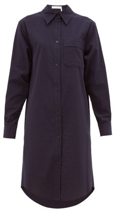 See by Chloe Striped Cotton Shirt Dress - Dark Navy