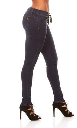 V.I.P. Jeans V.I.P. JEANS Pull on Skinny Slim Fit Stretch Jeans for Women Extra Stretch Dark Rinse Junior Size 3