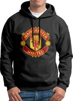 Kate Joo Manchester United F.C. Logo Football Club College Hooded Sweatshirt Men