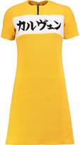 Carven Waffle-Knit Cotton-Blend Mini Dress