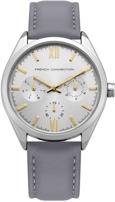 French Connection Silver Multi Leather Strap