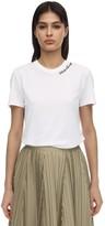 Salvatore Ferragamo Logo Detail Cotton Jersey T-shirt
