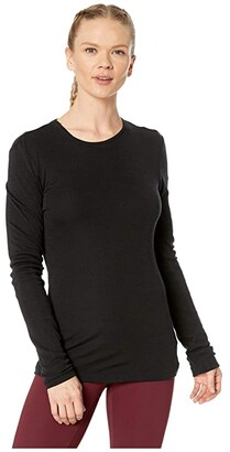 Icebreaker 175 Everyday Merino Baselayer Long Sleeve Crew (Black) Women's Clothing