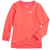 Nike Girl's Dri-Fit Crossover Sweatshirt