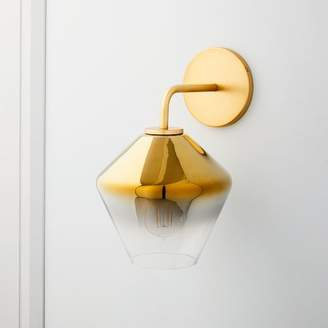 "west elm Sculptural Glass Geo Sconce - Metallic Ombre (8"")"