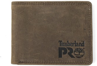 Timberland Men's Slim Leather RFID Bifold Wallet with Back ID Window