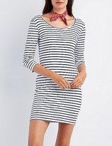 Charlotte Russe Striped Bodycon Mini Dress