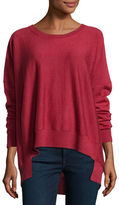 Eileen Fisher Merino Jersey High-Low Top, Plus Size