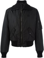 Dolce & Gabbana embroidered crown bomber jacket