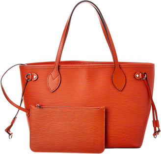 Louis Vuitton Orange Epi Leather Neverfull Pm Nm