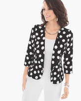 Chico's Soft Polka-Dot Blazer