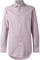 Kiton micro houndstooth shirt