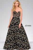 Jovani Beaded Waistline Sweetheart Neck Dress 47749
