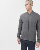 Ted Baker Quilted Bomber Jacket Charcoal