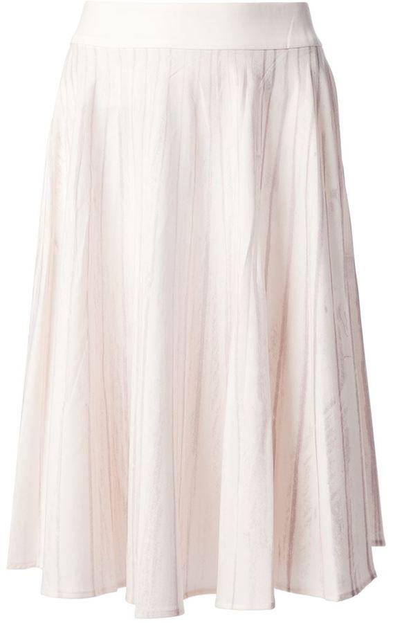 Maison Martin Margiela striped A-line skirt