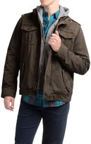 Levi's Twill Trucker Jacket with Hooded Bib (For Men)