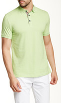 Jared Lang Contrast Placket Short Sleeve Polo