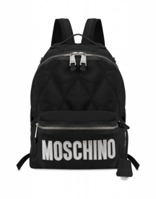 Moschino Quilted Backpack With Logo