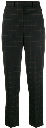 Calvin Klein Checked Cropped Trousers