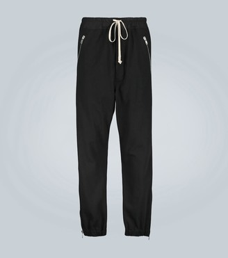 Rick Owens Cotton trackpants with side zippers