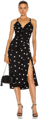 Dolce & Gabbana Polka Dot Dress in Black & White | FWRD