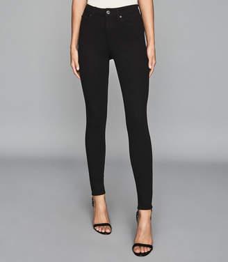 Reiss SKYE Bi-Stretch High Rise Skinny Jeans Black